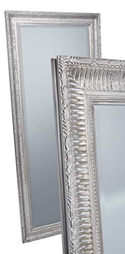 LC Home Wandspiegel Spiegel Silber ca. 180 x 80 cm Antik-Stil barock m. Facettenschliff XL Ganzkörperspiegel Ankleidespiegel