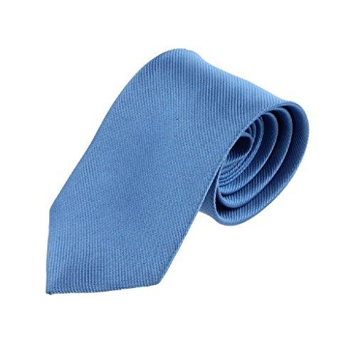 Ularma Moda Nuevo Color sólido clásico rayas corbata corbata Jacquard Tejido de los hombres (talla única, azul claro)