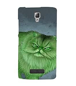 EPICCASE Green Cat Mobile Back Case Cover For Lenovo A2010 (Designer Case)