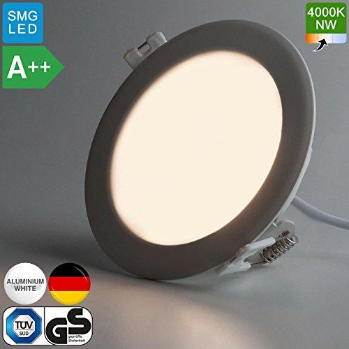 mia light led panel 120mm a 6w 4000k neutralwei rund