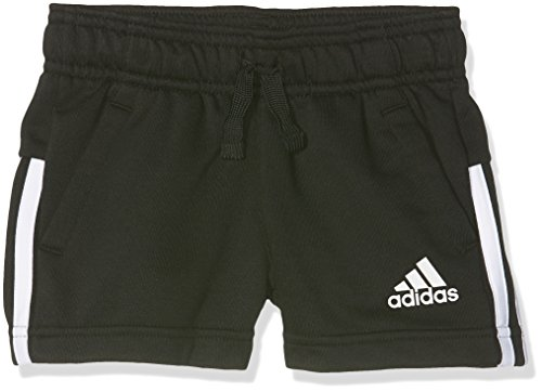 adidas Mädchen 3-Stripes Shorts, Black/White, 128