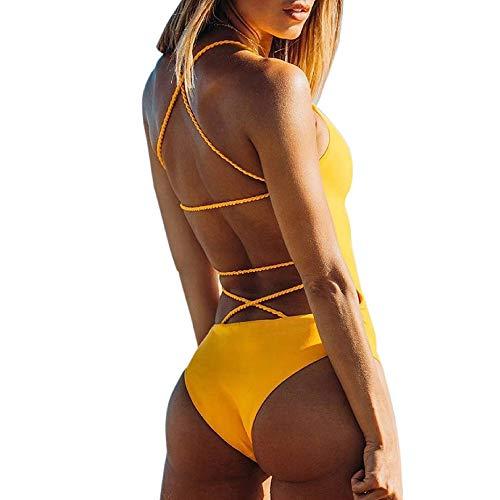 K-youth® Ropa De Baño Bañador de una Pieza Bikini Mujer 2018 Bikini Push Up Mujer Sin Respaldo Playa...