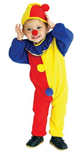 Eozy Kleinkind Clown Kostüm Halloween Jumpsuit mit Kapuze Karneval Fasching Kostüm Cosplay S Körpergröße 95-110cm (Alter Für 2 Halloween-kostüme)