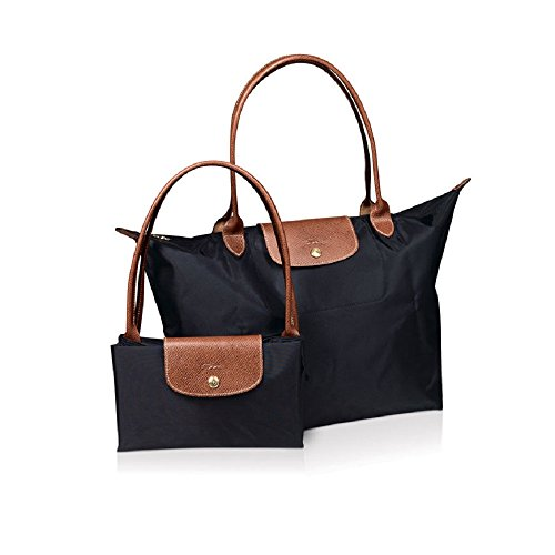 Waterproof Long Handle Nylon Foldable Shopping Handbag By Inovera