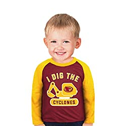 NCAA Iowa State Cyclones Boys Toddler Digger Raglan, 4 Tall, Red
