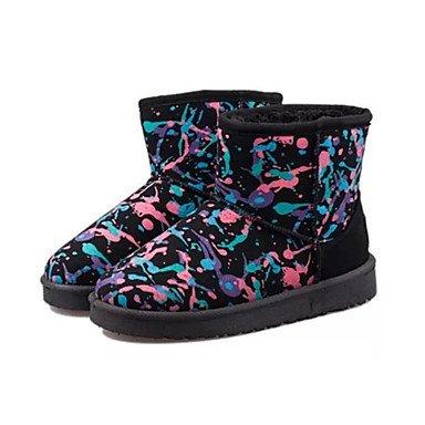 165f4abcfbb58 Rtry Femmes Chaussures Nubuck Cuir Automne Hiver Charpie Confort Doublure  Nouveauté Bottes De Neige Bottes De