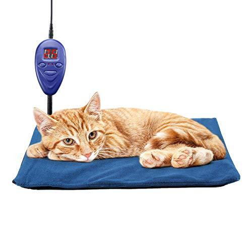 Gooasis 15W Wärmedecke 7 Temperatur Einstellbar für Welpen, Katzenbabys, ältere Tiere