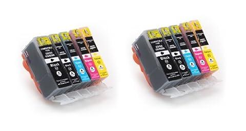 10 kompatible Druckerpatronen mit CHIP und Füllstandsanzeige