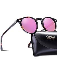 Carfia Vintage Polarizadas Gafas de Sol Mujer Hombre UV400 Protección para  Viajes Conducir f0256dac23