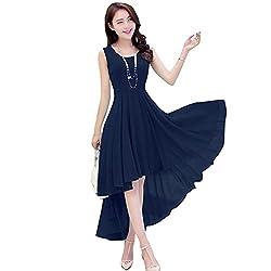 Vaankosh Fashion Women's Georgette Kurta (M Ret Navy__navy blue_Free Size)