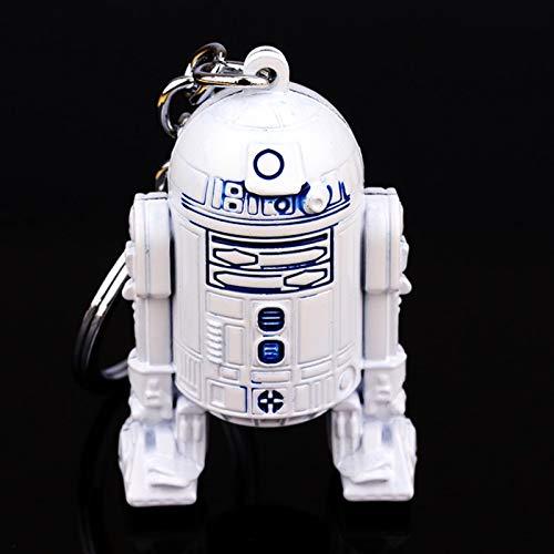 TUDUDU Film Star Wars White Robot Keyring Star Wars 3D Robot R2 Keychain for Men and Childs Birthday Gift Chains Zubehör