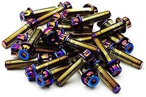 SRR Hardware Gold Split Rand Schrauben M7/x 24/mm/ /10.9/HT Stahl f/ür BBS RM oz Rollen