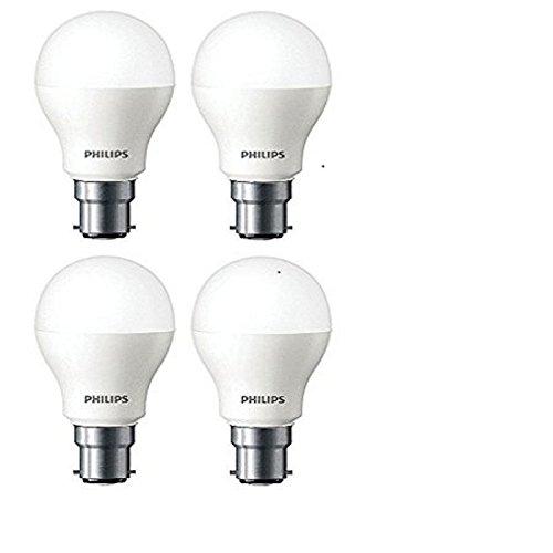 Philips Base B22 2.7-Watt LED Bulb (Pack of 4, Cool Day Light) (Cool Day Light)