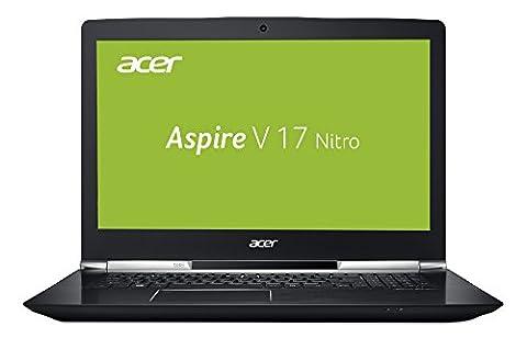 Acer Aspire V 17 Nitro VN7-793G-79MN 43,9 cm (17,3 Zoll Full HD) Notebook (Intel Core i7-7700HQ, 8GB RAM, 256GB PCIe SSD, 1000GB HDD, Nvidia GeForce GTX 1050Ti, Win 10 Home) schwarz