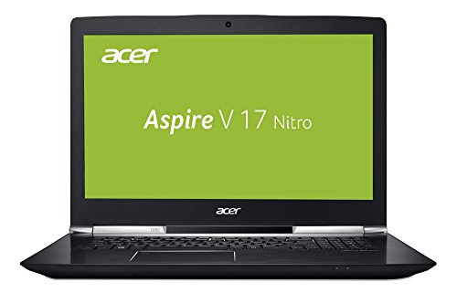 Acer Aspire V 17 Nitro (VN7-793G-79MN) 43,9 cm (17,3 Zoll FHD IPS matt) Gaming Notebook (Intel Core i7-7700HQ, 8GB RAM, 256GB PCIe SSD + 1TB HDD, GeForce GTX 1050Ti, USB 3.1 Type-C, Win 10) schwarz