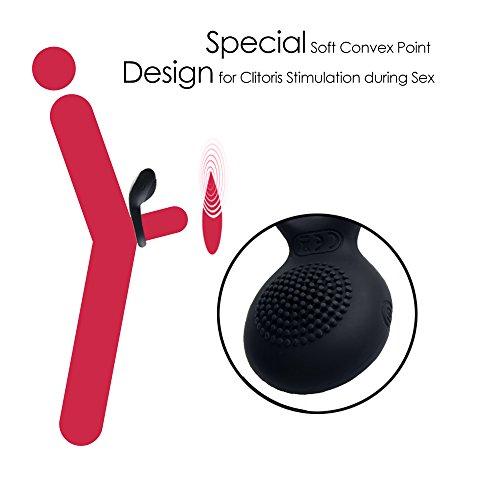 Sexspielzeug vo SVAKOM Vibrator Ring mit Klitorisstimulator, Untertauschen Wasserdichter Silikon Penisring mit Vibration, Wiederaufladbarer vibratoren für Männer und Paar - 4
