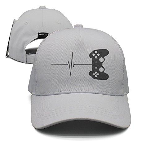 Gamer Heartbeat Unisex Baseballmütze Snapback Hip Hop Caps Sport Sonnenhüte ausgestattet