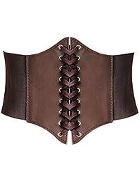 224576554a6 HANERDUN Lace-up Corset Elastic Retro Cinch Belt Waist Belt Four Sizes