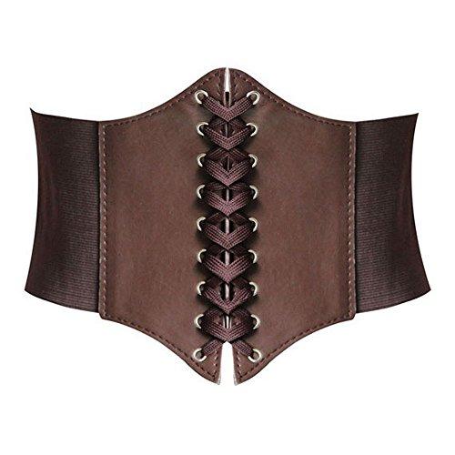 HANERDUN - Cinturón - para mujer Marrón marrón Large