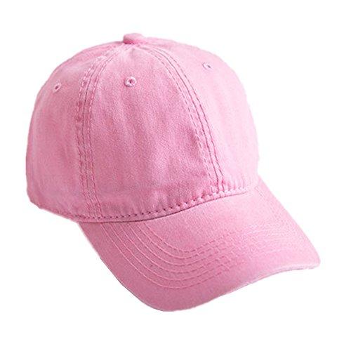 Toruiwa Kappe Damen Baseball Kappe Verstellbar Mütze UV-Schutz Kappen für Herren und Damen Sommer (Rosa)