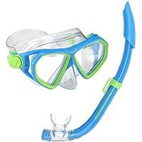 US Divers Maschera e boccaglio per bambini Dorado / Seabreeze, Blu (Blue/Green), età 4 + - Età Vetro