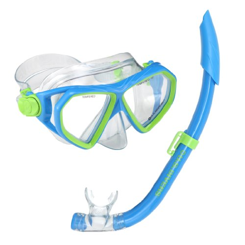 us-divers-kids-dorado-seabreeze-mask-and-snorkel-blue-green-6-years