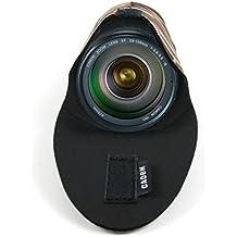 DURAGADGET Bolsa / Estuche Para Canon 24-135 mm + Gamuza / Paño - Diseño Militar / Camuflaje -Realizada En Neopreno