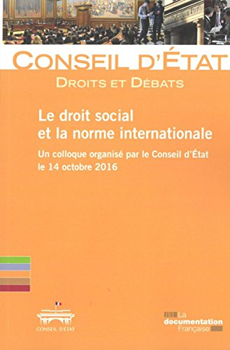 Le droit social et la norme internationale par Collectif
