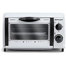 Orbegozo HO 800 A - Mini horno tostador, 800 W, 8 l, temporizador, recogemigas, color blanco
