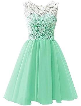 LPATTERN-Abito Bambina Principessa in Pizzo Senza Maniche Bambine Vestito ragazze tulle abito da sposa Cerimonia