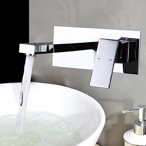 Wasserhahn Waschtischarmatur Waschbecken mit Keramisches Ventil Wand Armatur