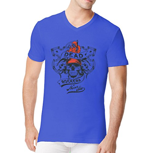 Biker Männer V-Neck Shirt - Dead Rockers by Im-Shirt Royal