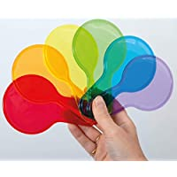 TickiT 73109 Translucent color Mixing Paddles - 6 colors, Primary and Secondary.