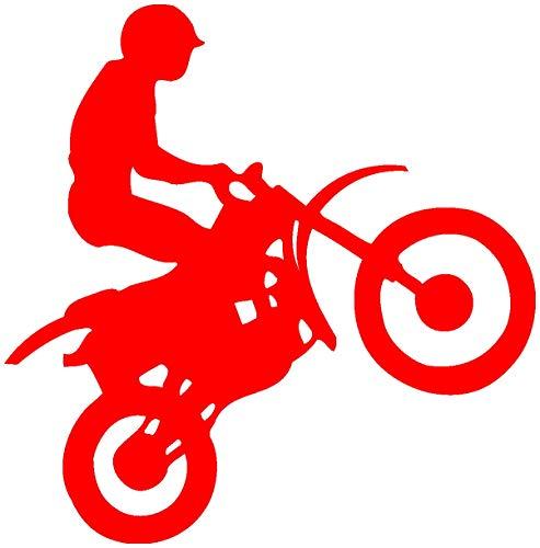 Samunshi® Motocross Aufkleber Enduro in 7 Größen und 25 Farben (15x15cm hellrot)