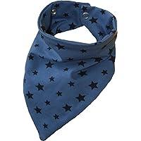 Zahntuch Sterne blau, wasserdichtes Halstuch