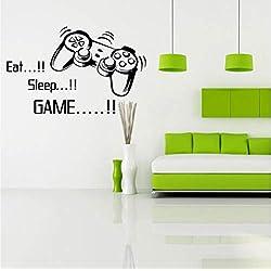 Ponana Mangez Sommeil Jeu Vinyle Art Fonds D'Écran Gamer Garçons Chambre Lettre Quotes Décoration De La Maison Sticker 84X50Cm