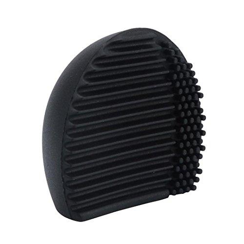 FEITONG Silikon Ei Reinigung Handschuh Make-up Pinsel Waschen Reinigung (60*65*30MM, Schwarz-2)