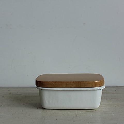 Gute Statische Waren Roh Holz Mit Kleinen Schüssel Buchenholz Rechteckige Zahnschmelz Zahnschmelz Butter - Box,Weiße
