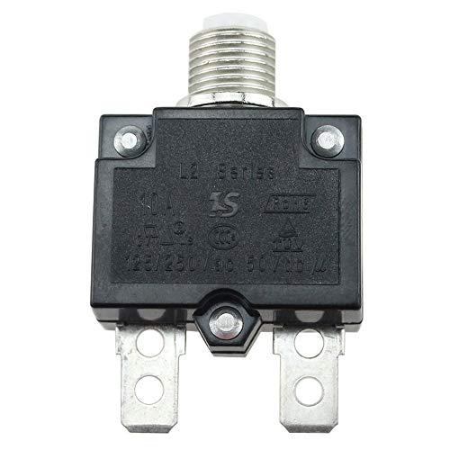 Sen-Sen 5A / 10A / 15A / 20A / 30A Drucktaster Rückstellbarer Thermoschalter für Schalttafeleinbau schwarz 10A - Installieren Circuit Breaker 30a