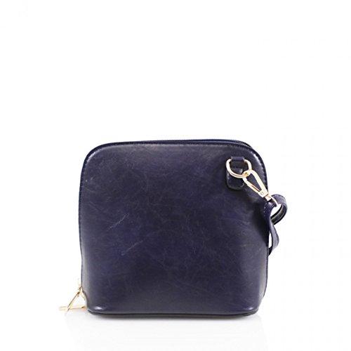 6422d72354908 LeahWard Faux Leder Kreuz Körper Handtaschen Umhängetasche für Frauen  Across Body Taschen CW16 2 Blau Marine Kleine Tasche