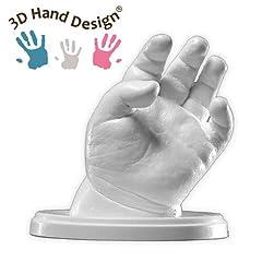 Idea Regalo - Lucky Hands® Kit per Impronte 3D | per stampi di mani | Idea regalo Festa della mamma (0-6 mesi | senza accessori, 4-6 stampi)