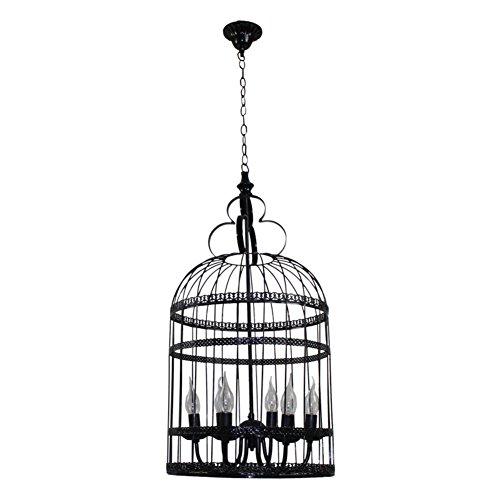 Vintage Vogelkäfig Kronleuchter Kreativ Romantisches Restaurant Café Treppe Kleidung Shop Schmiedeeiserne Leuchter-C