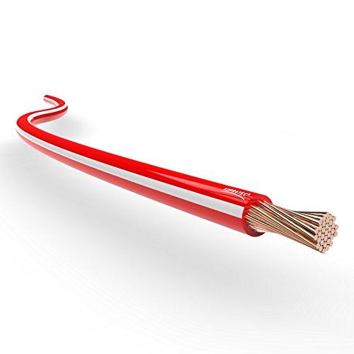 AUPROTEC® Fahrzeugleitung 0,75mm² 1mm² 1,5mm² Längen 5m oder 10m: 5m 1,5 mm² rot-weiß