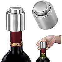 Aliciashouse 3PCS argento elegante vino dell'acciaio inossidabile sigillata del tappo