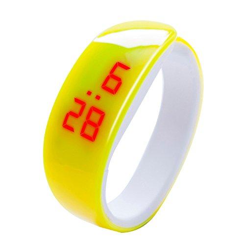 Zeitgenössische-outdoor-halterung (Makalon Herren Damen Hintergrundbeleuchtung Mode Digital LED Sportuhr Unisex Silikonband Fitness Traning Multifunktion zeitgenössisch Outdoor Armbanduhren)