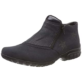 Rieker Women's L4674 Ankle Boots, Blue Pazifik/Baltik/Altsilber 14, 6.5 UK