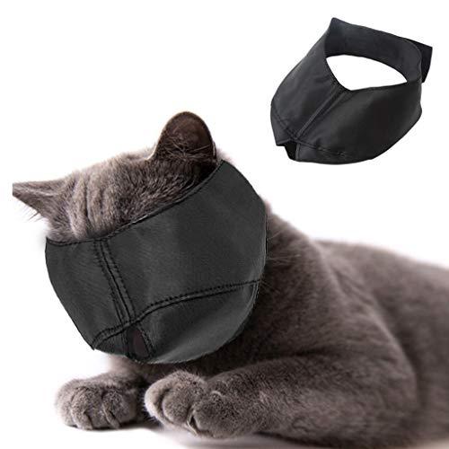 Beikal Maulkorb für die Katzenpflege, Nylon Katzen-Maulkorb, Gesichtsmaske, Haustierpflege-Hilfsmittel, verhindert Kratzer und Bissbildung, Größe L