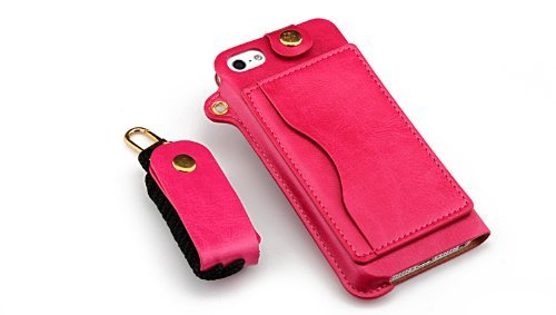 Monkey cases ® iPhone 4/4s-lEATHER case-rose-cuir-bUSINESS-coque de luxe en cuir-rose-produit d'origine neuf sous emballage d'origine