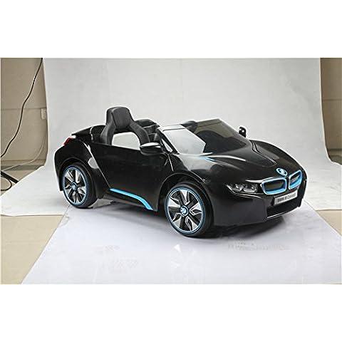 BMW i8nera versione lusso Auto Elettrica bambino 12V2motori, telecomando parentale, adatto ai bambini da 3a 6anni