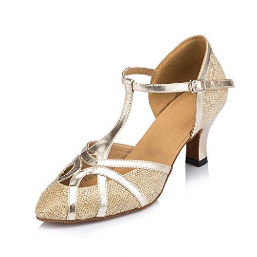 Ballrom De Tango Dança De Moderna Ouro Malha Salto Meijili Latina Sapatos Salsa Das Mulheres De Alto wIXHPPx0